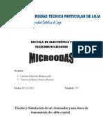 Atenuador y linea de transmisión microondas