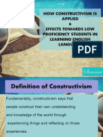 How Constructivism is Applied