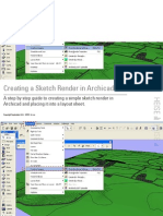 How to Create a Sketch Render in Archicad