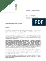 courrier DDE concertation 3ème voie rocade