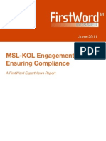 Summary-MSL and KOL Regulatory Compliance