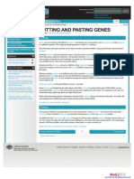 Cutting and Pasting Genes