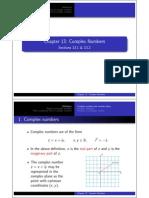 Complex Numbers 1 2 Handout 1x2