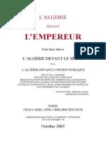 Warnier - L Algerie Devant l Empereur