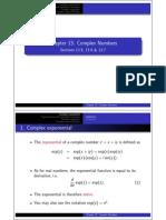 Complex Numbers 5 6 7 Handout 1x2