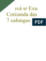Saravá sr Exu Corcunda das 7 calungas