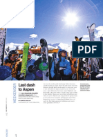Aspen travel piece for San Francisco Magazine March 2008
