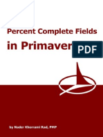 Primavera Percent Complete fields