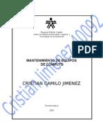 Mec40092evidencia02 Cristian Jimemez - Instalacionwindows 98
