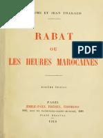 Tharaud Jerome Et Jean - Rabat Ou Les Heures Marocaines