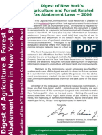 Digest of Agriculture and Forest Tax Abatement Laws in New York State