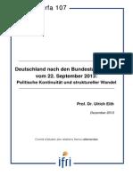 Deutschland nach den Bundestagswahlen vom 22. September 2013