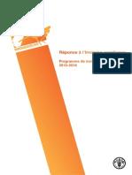 Réponse à l'invasion acridienne - programme de trois ans 2013-2016 (FAO)