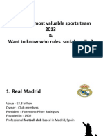 Worlds Most Valuable Sports Team 2013