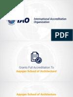 IAO Grants Accreditation to Aayojan School of Architecture
