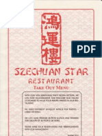 Szechuan Star Restaurant Menu