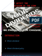 Factor Affecting Dividend Policy