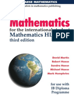 Mathematics for the international student – Mathematics HL (Core) third edition  David Martin Robert Haese Sandra Haese Michael Haese Mark Humphries