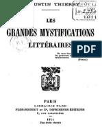 Thierry Augustin-Jules-Gilbert - Les Grandes Mystifications Litteraires Premiere Serie