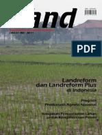LAND. Media Pengembangan Kebijakan Pertanahan Edisi Mei-Jul 2007. Land reform dan Land reform Plus di Indonesia