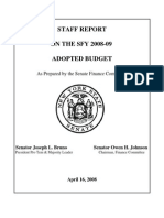 08-09 SFC Staff Report on the Adopted Budget