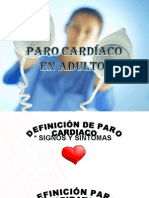 Paro Cardiaco en Adultos