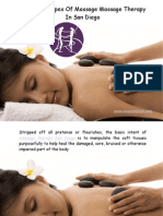 Different Types Of Massage Massage Therapy In San Diego