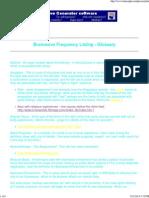 Brainwave Frequency Glossary