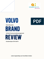 Brand Review Volvo 2013 with added communication recommendations.