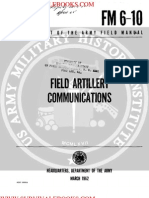 1960 US Army Vietnam War Field Artillery Communications 231p