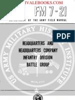 1960 US Army Vietnam War Headquarters & Headquarters Company Infantry Division 76p