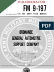 1960 US Army Vietnam War Ordnance General Automotive Support Company 69p