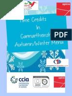 Menu - Winter CCIA