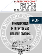 1961 US Army Vietnam War Communication in Infantry & Airborne Divisions 245p