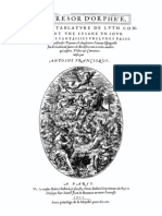Le Tresor D'Orphee Antoine Francisque 1600