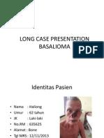 Long Case Presentation Basalioma