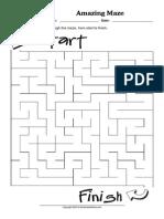 WorksheetWorks Amazing Maze 2