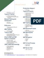 SAP Testing Contents