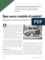 Open Source, evolutie of revolutie?