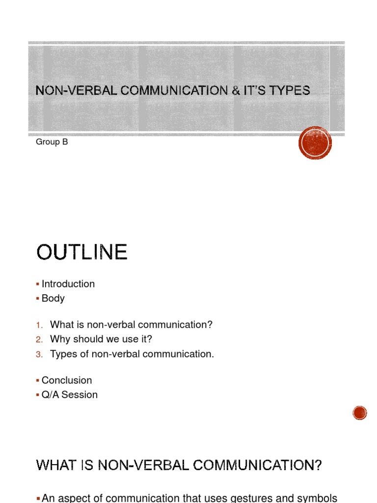 Nonverbal communication and its types 6