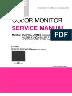 Lg Flatron Monitor l1918s