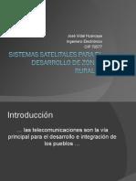 Sistemas Satelites Para El Desarrollo de Zonas Rurales