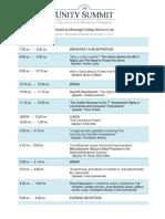 The Unity Summit Agenda (2013-12-17)