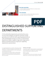 Distinguished Supporting Departments