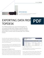 Exporting data from TOPdesk