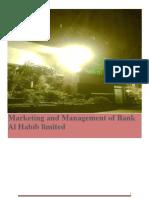 Bank Al Habib marketing management