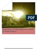 Bank Al Habib marketing management