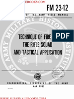 1963 Us Army Vietnam War Technique of Fire of the Rifle Squad & Tactical Application 137p