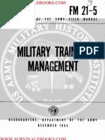 1964 US Army Vietnam War Military Training Management 51p