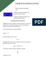 DERIVADAS - EXERCÍCIOS RESOLVIDOS ~ Estudando Física